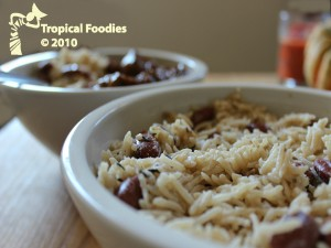 Jamaicans take the rice and peas (actually beans) award