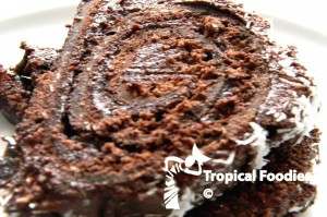 Chocolate rolled cake
