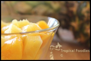 Pineapple mango fruit salad