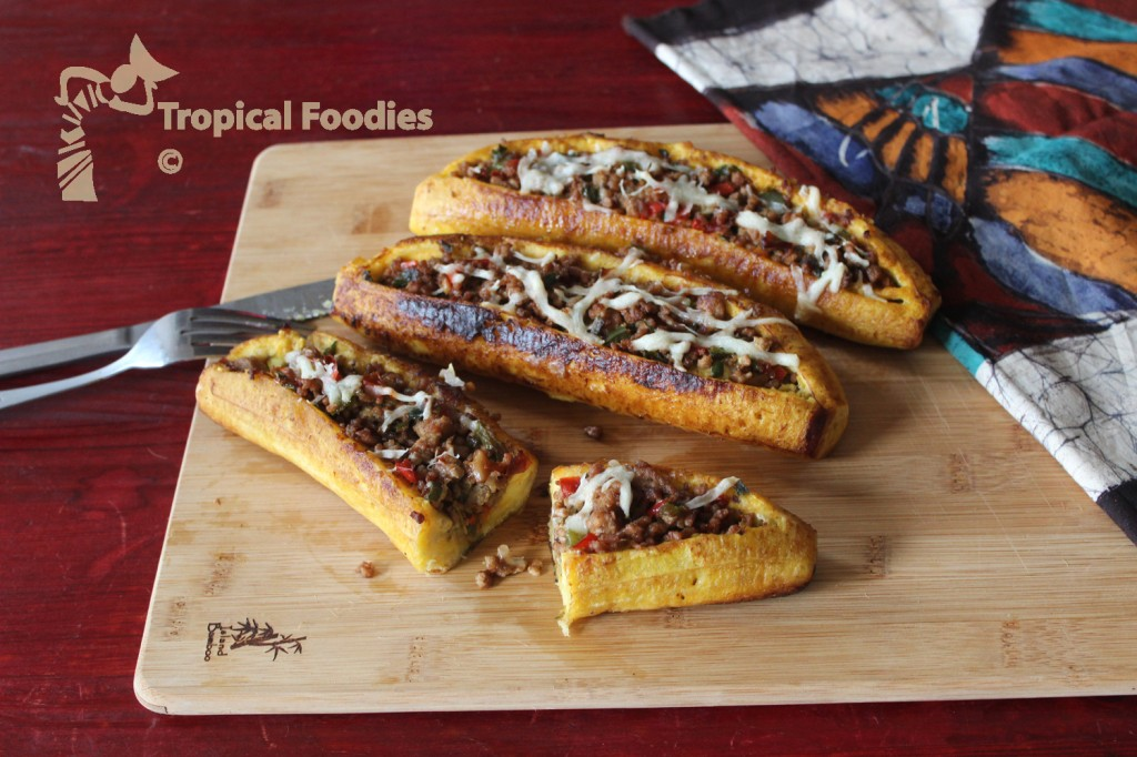 stuffed plantain boats