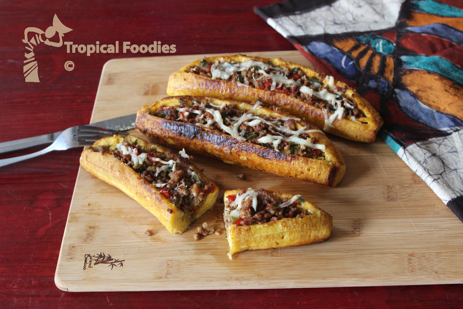 Stuffed plantain boats, take this festive boat ride anytime